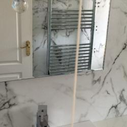 More of the bathroom revamp - lovely marble effect wall panels