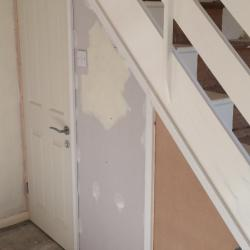 Under stairs cupboard mid fitting